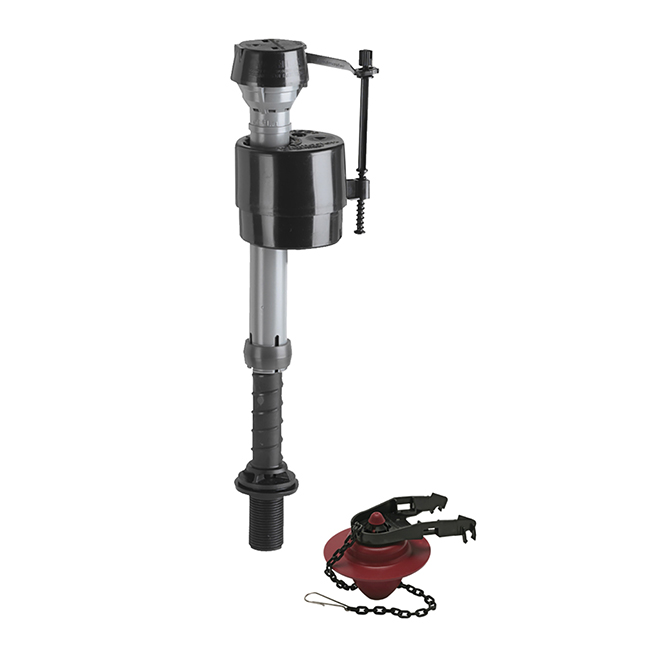 """Valve and Flapper Kit - 9 to 14"""" Adjustable Height - PVC"""