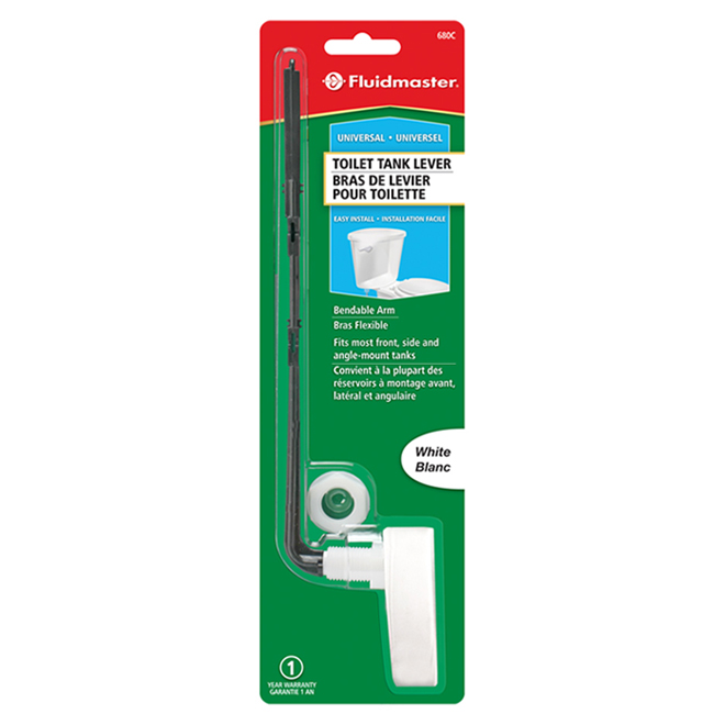 Universal Toilet Flush Lever - White