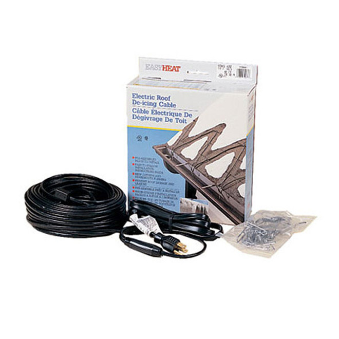 Roof deicing cable