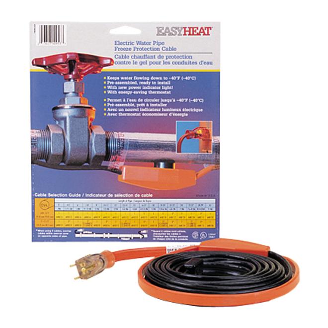 Câble chauffant de protection contre le gel
