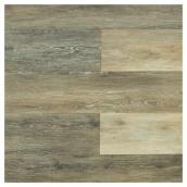 Plancher de composite/PVC, 15,3 pi², gris tempête