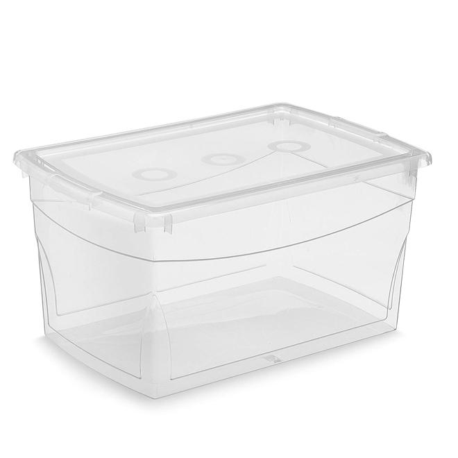 Kis Omni Storage Box - Plastic - 50-Litre - 23.1 x 15.4 x 11.9-in - Clear