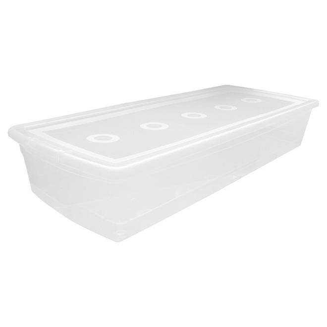 Storage box, Omni, Clear Plastic, 50 L