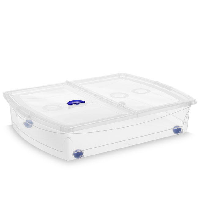Kis Plastic Under the Bed Storage Box - 56-Litre - Clear