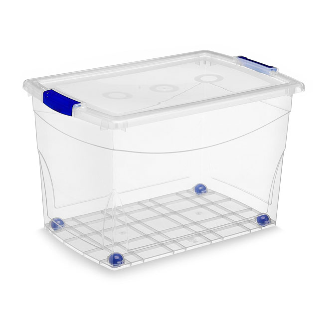 Kis Omni Storage Box - Wheeled - Plastic - 60-Litre - Clear