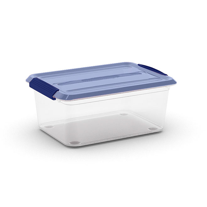 Kis Omni Storage Box - Plastic - 14-Litre - Clear and Blue
