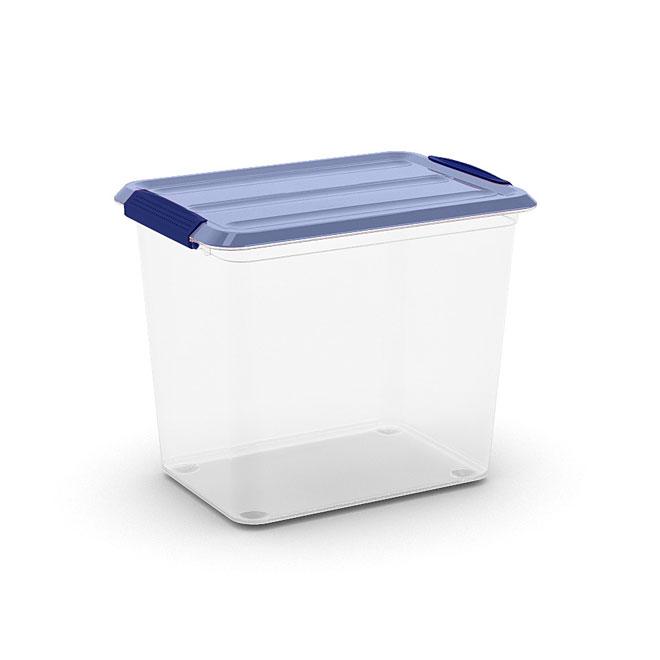Kis Omni Storage Box - Plastic - 25-Litre - Clear and Blue