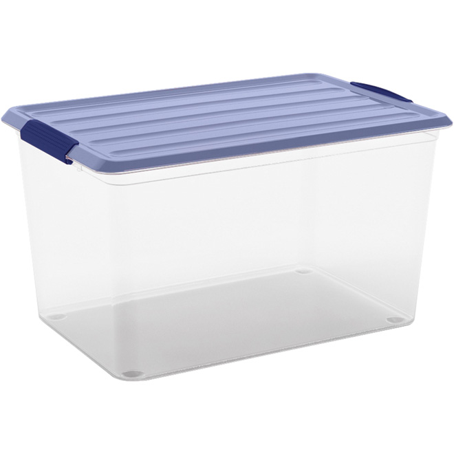 Kis Omni Storage Box - Plastic - 25-Litre - Clear and Blue