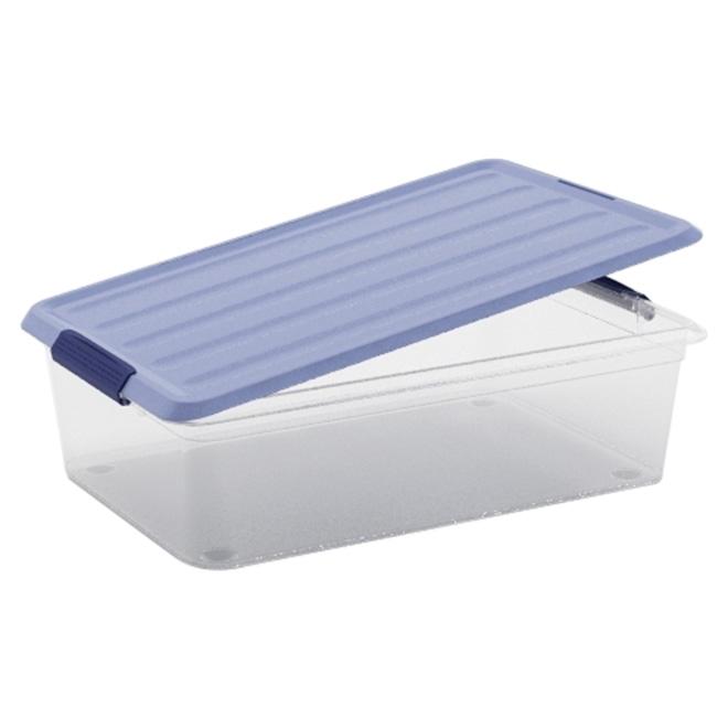 Kis Omni Storage Box - Plastic - 5.9-Litre - Clear and Blue