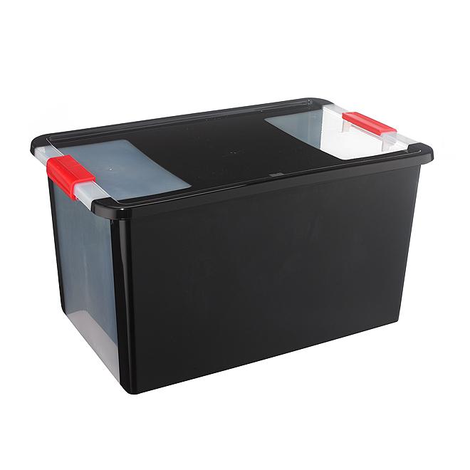 Kis Storage Box - Plastic - 40.5-Litres - Black and Red