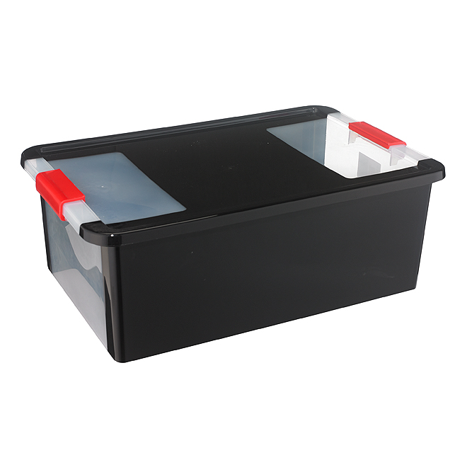 Kis Storage Box - Plastic - 27.5-Litres - Black and Red