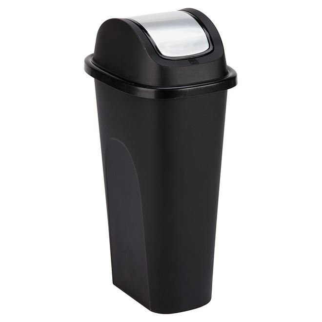 Kis poubelle troite 42 l noir acier inoxydable fg08075010811 rona - Poubelle cuisine etroite ...