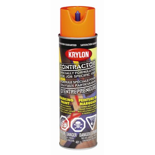 Peinture à marquer d'entrepreneur, Krylon, 482 g, base d'eau, rouge sécurité