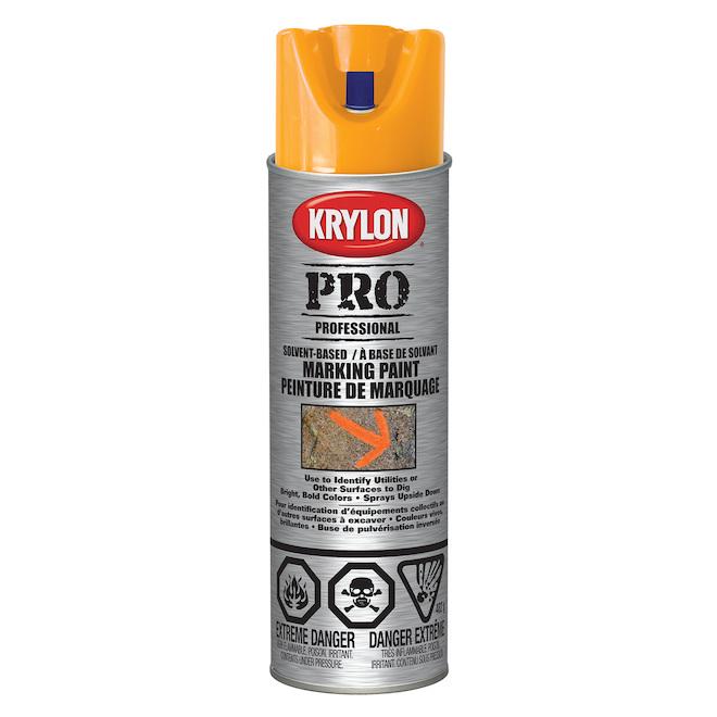Peinture à marquer d'entrepreneur, Krylon, 482 g, base d'eau, orange alerte