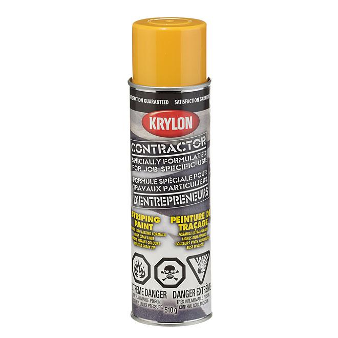 Peinture de traçage, Krylon, base solvant, 510 g, jaune