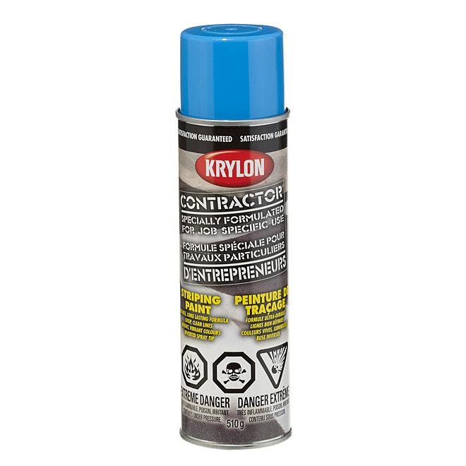 Peinture de traçage, Krylon, base solvant, 510 g, bleu