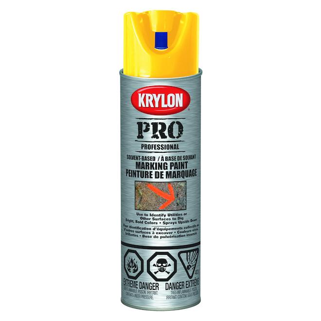 Krylon - Contractor Marking Paint - 482 g - Water Base - Yellow