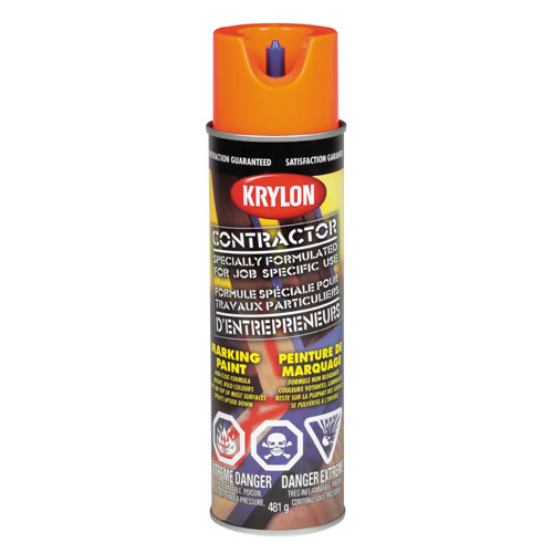 Krylon - Contractor Marking Paint - 482 g - Water Base - Red