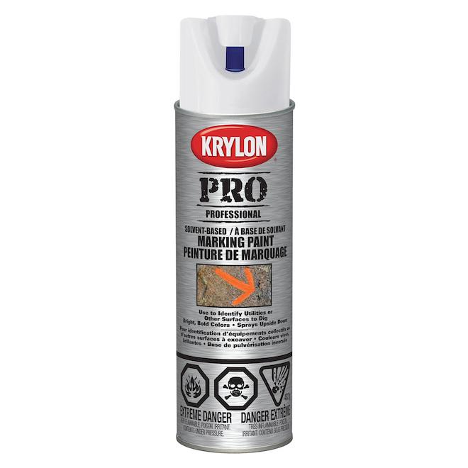 Peinture à marquer d'entrepreneur, Krylon, 482 g, base d'eau, blanc