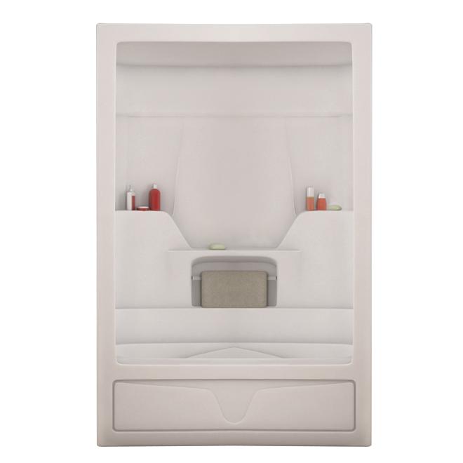 "maax 3-piece ""aspen"" bath with shower - acrylic - white"