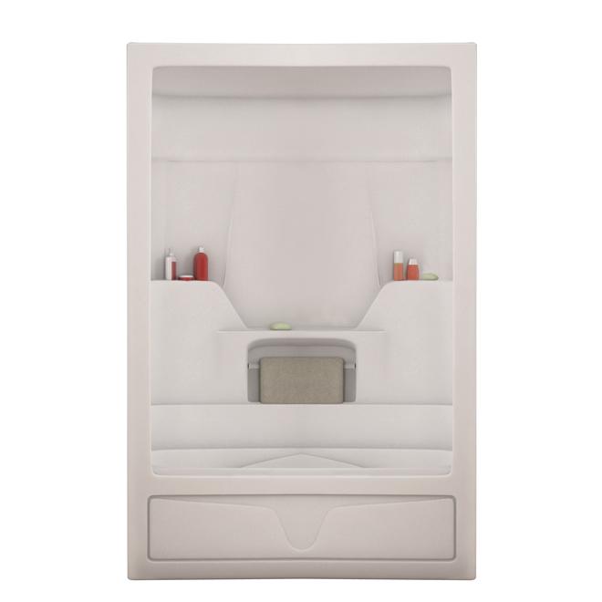 "Bath shower 3pcs - Acrylic - White - 60""x32""x85"""