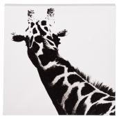 Cotton Black and White Canvas - Giraffe