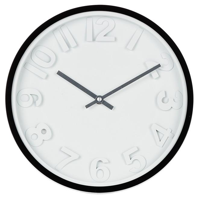 Wall Clock - White/Black