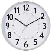 Wall Clock - White/Silver - 12""