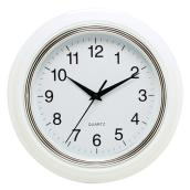 Wall Clock - Aster - White/Silver - 10""