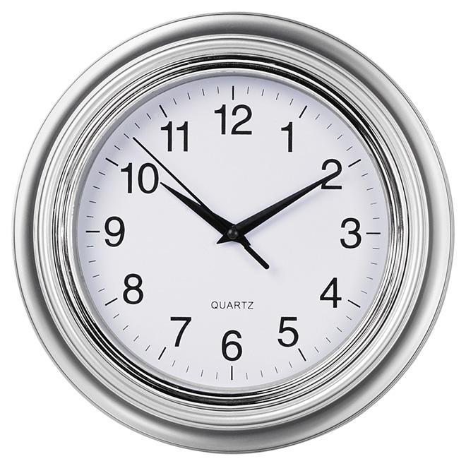 kiera grace horloge murale aster argent 10 ho87364 4 rona. Black Bedroom Furniture Sets. Home Design Ideas