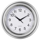 Wall Clock - Aster - Silver - 10""
