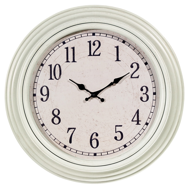 """Wall Clock - Emmerson - Ivory - 20"""""""