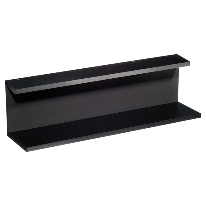 "Wall Shelf «Noto» with Chalkboard - 24"" - Black"