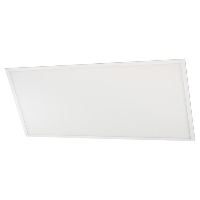Luminaire encastré DEL, 2' x 4', blanc
