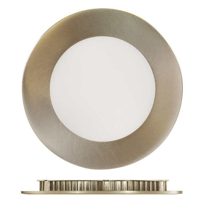 "LED Recessed Light - TRENZ - 9 W - 4"" - Brushed Nickel"