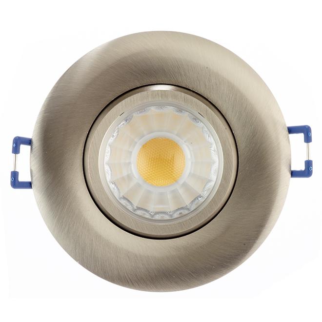 "LED Recessed Light - TRENZ - 7.5 W - 3"" - Brushed Nickel"
