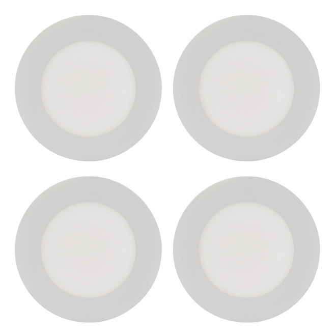 Trenz THINLED Recessed Round Light Fixtures - 4-in - White - 4/Pack