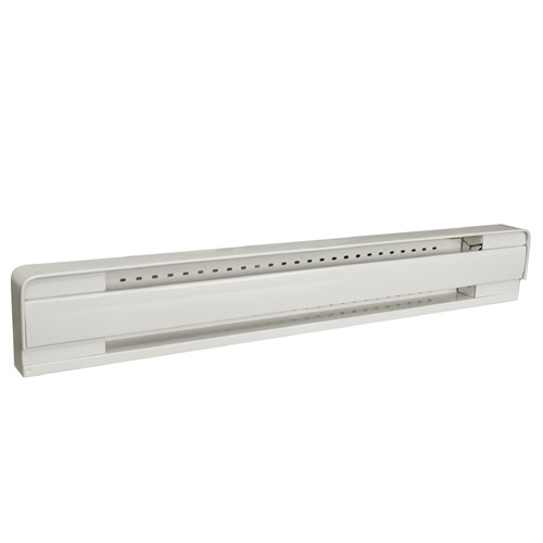 "Baseboard Heater - 240 V - 500 W - 27.5"" - Metal - Almond"
