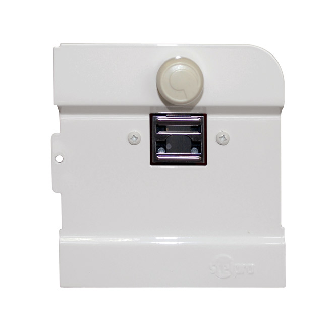Built-in thermostat for electric baseboard