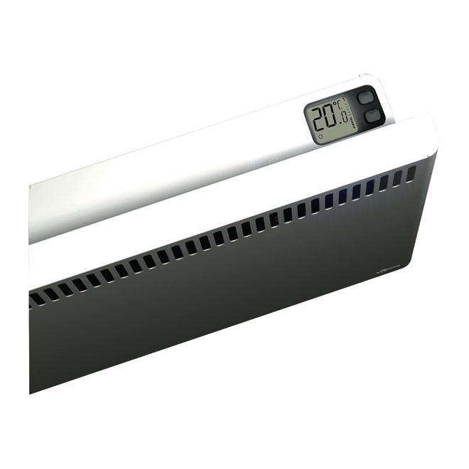 Convecteur avec thermostat intégré, 1500W, acier, blanc