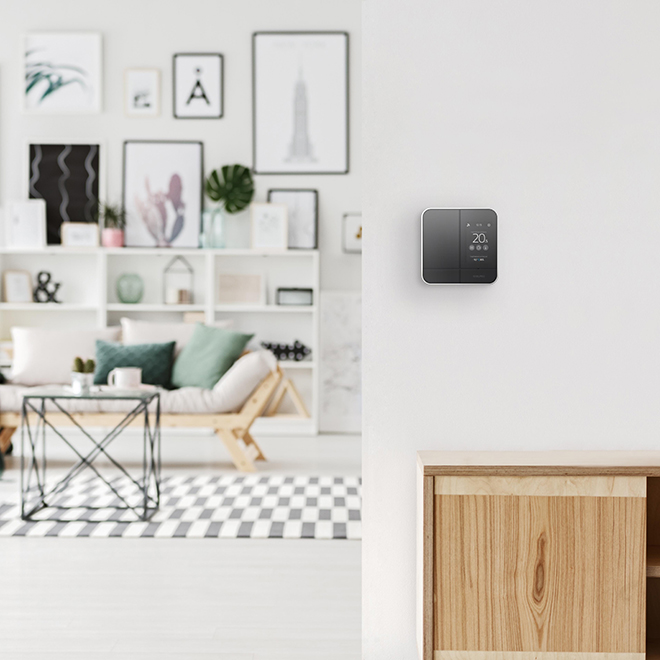 Contrôleur-thermostat intelligent, 4000 W, noir