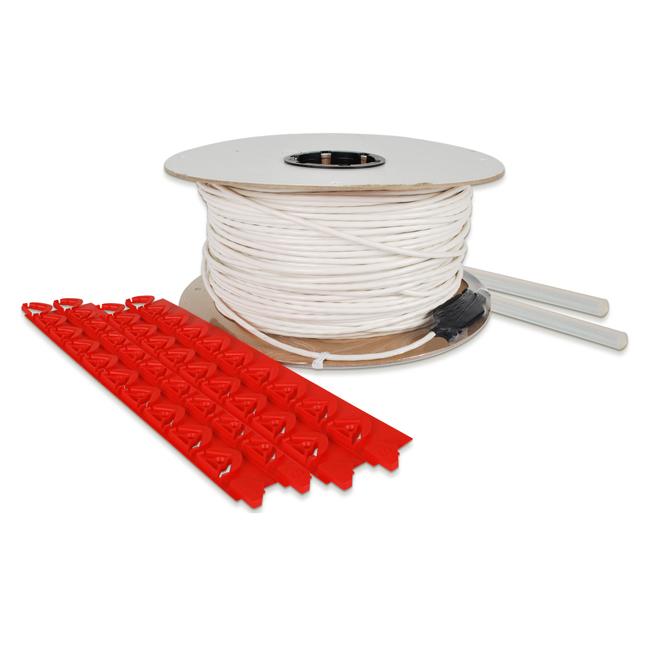 Câble chauffant pour le plancher, 673,8', 2580 W, 240 V, blanc