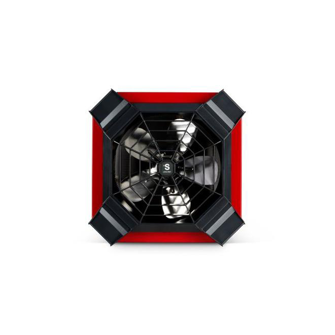 Stelpro Spider Ceiling Fan Heater for Garage - 4000 W - 240 V - Red