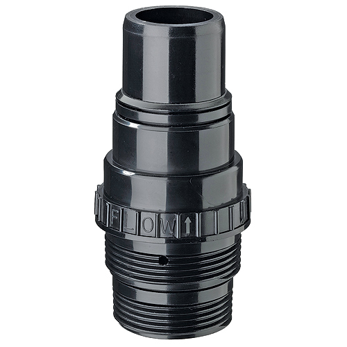 Flotec Plastic Check Valve - 1 1/4-in or 1 1/2-in - Black