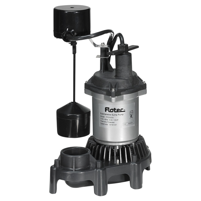 Flotec FPZS33V Sump Pump - 1/3 HP - Submersible
