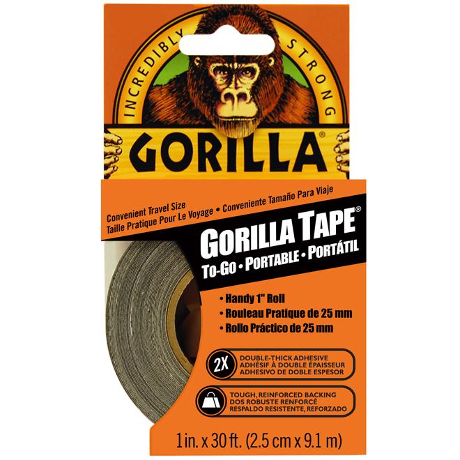 All-Purpose Adhesive Tape - Travel Size - 30' - Black