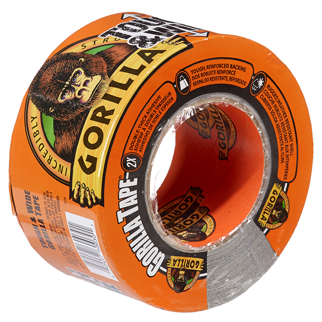"""Adhesive Tape - Tough and Large - 3"""" x 30yd - Black"""