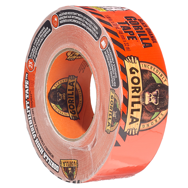 Orange Fluo Adhesive Tape - High Visibility - 48 mm x 32 m