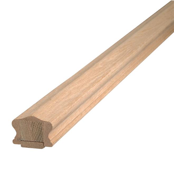 Oak Handrail with Fillet - 6' - Natural
