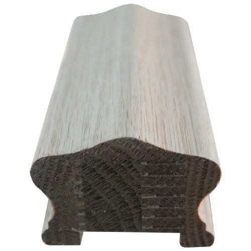 Main courante en chêne avec listel, 8', bois naturel